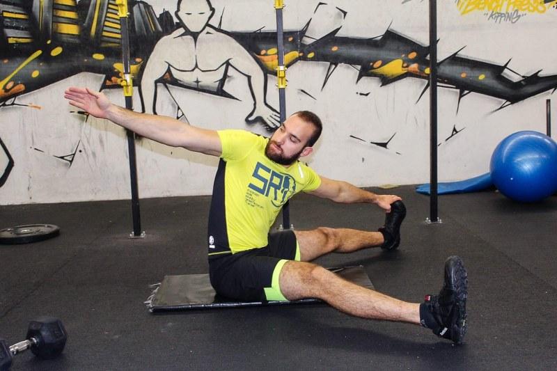 Hip stretching variation