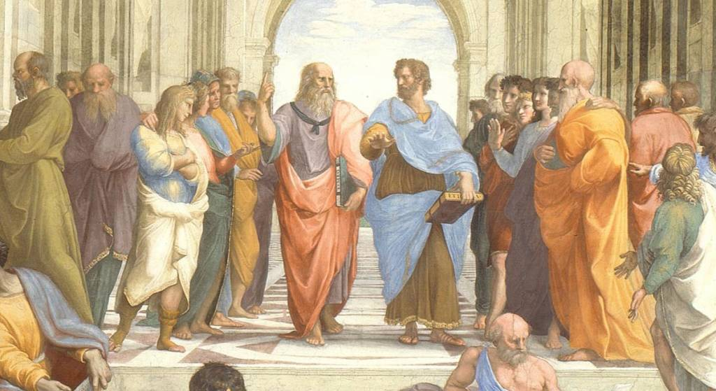 Plato and Aristotle in The School of Athens, by Raphael